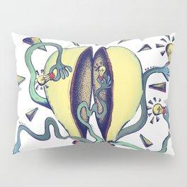 Handsy Lightbulb by Maisie Cross Pillow Sham