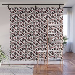 Frilly from the Black & White & Red All Over Collection Wall Mural