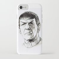 spock iPhone & iPod Cases featuring Spock by Sara (aka Wisney)