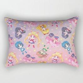 Chibis Crystal Pattern Rectangular Pillow