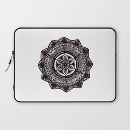 Shades of Grey Mandala Laptop Sleeve