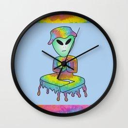 Trippy Alien- Plain Background Wall Clock