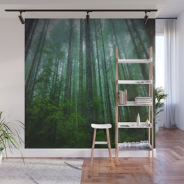Misty Mountain Forest Wall Mural