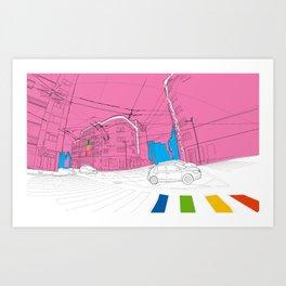 Pink city Art Print