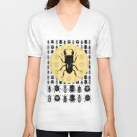 bugs V-neck T-shirts featuring Bugs Pattern by DIVIDUS