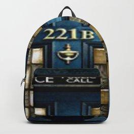 Tardis Sherlock Holmes 221B Backpack