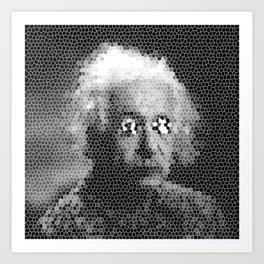 Mosaic Einstein Art Print