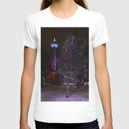 Skylon Tower with Christmas Lights T-shirt