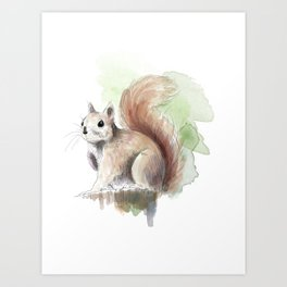 Squirrel! Art Print