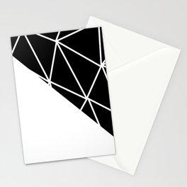 GEOMETRIC PATTERN (BLACK-WHITE) Stationery Cards