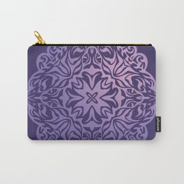 Polynesian style tattoo mandala purple Carry-All Pouch