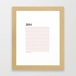 2014 RED FOUR Framed Art Print