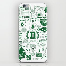 Dartmouth Massachusetts Print iPhone Skin
