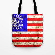 An American flag Tote Bag