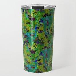 African Daisy, Circles, Swirls and Spirals Travel Mug