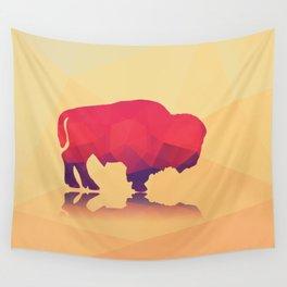 Geometric buffalo Wall Tapestry
