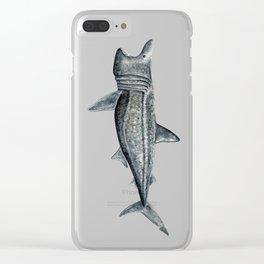 Basking shark (Cetorhinus maximus) Clear iPhone Case