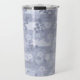Flower pattern blue . Travel Mug