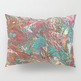 Copper and Turquoise Pillow Sham