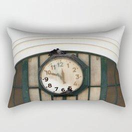 Vintage Station Clock with Birds Rectangular Pillow