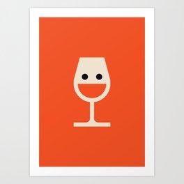 Wine-o = Fine-o Art Print