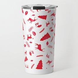 Scandinavian Christmas Pattern Travel Mug