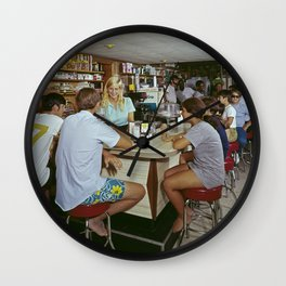 All Star Motel Coffee Shop in Wildwood, New Jersey. 1960's photograph Wall Clock