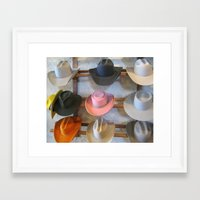hats Framed Art Prints featuring Hats by Judith Kimber Photography