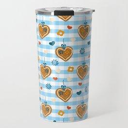 Oktoberfest Gingerbread Hearts Travel Mug