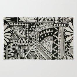 Retro Flower Doodle Rug