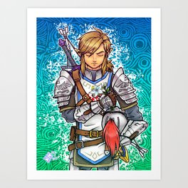 Her Appointed Knight Art Print