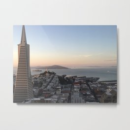 Transamerica Pyramid skyscraper view San Francisco Metal Print