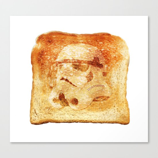 Stormtrooper Toast Canvas Print