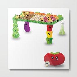Veggie-Table Metal Print