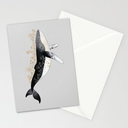 Floral Whale Stationery Cards
