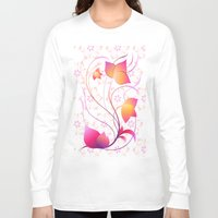 floral pattern Long Sleeve T-shirts featuring Floral Pattern  by Robin Curtiss