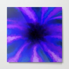 Ultra Violet Beams Captured by a Black Hole Metal Print