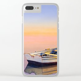 Golden Twilight Clear iPhone Case