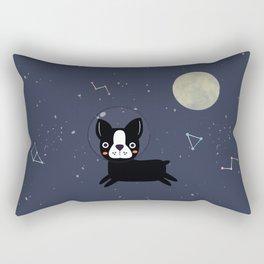 Boston Terrier In Space Rectangular Pillow