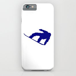 Snowboard Jumping Silhouette iPhone Case