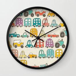 retro rides eggshell Wall Clock