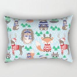 Christmas woodland Rectangular Pillow