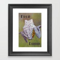 Frog Rump Framed Art Print