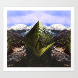 ASPEN DIAMONDS Art Print