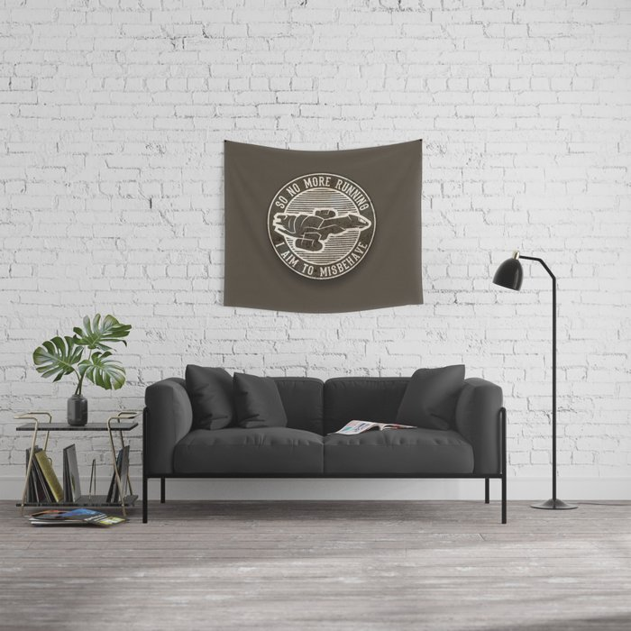 Misbehave Badge V2 Wall Tapestry