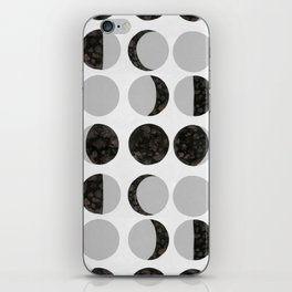 Moon Phases - White iPhone Skin