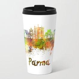 Parma skyline in watercolor Travel Mug