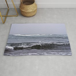 Snowing on the Waves Rug