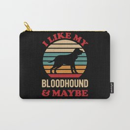 Funny Bloodhound Dog Carry-All Pouch