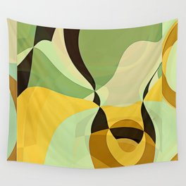 RETRO Mid Century Modern Pattern Abstract Geometric Art by Michel Keck Wall Tapestry